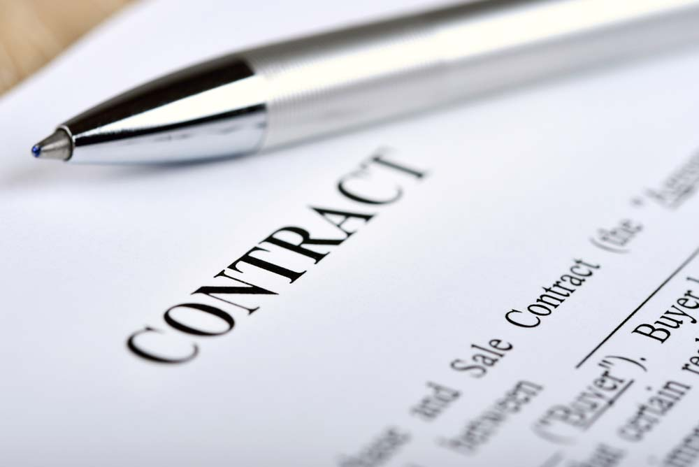 conveyancing contract and pen